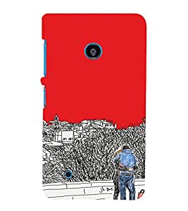 EPICCASE Artistic couple Mobile Back Case Cover For Nokia Lumia 530 (Designer Case)