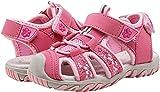 Saldgoiz Fille Sandales et Nu-Pieds Bout Fermé Enfant Sandales de Randonnée Extérieur Trekking Sport Chaussures de Plage Été Rose 32