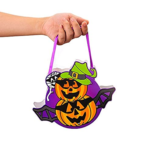Halloween Candy Bags for Children,BAFFECT® DIY Halloween Double Head Pumpkin Party Storage Bag Kids Candy Bag for Halloween School (Double Head Pumpkin)