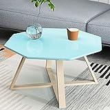 GZ Teetisch, Kreativer Weißer Couchtisch des Wohnzimmers, Nachttisch des Schlafzimmers, Kleiner Quadratischer Beistelltisch,Blau,60Cm / 23.4In