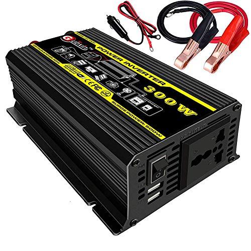 GUOXIN Power Inverter 12V 220V 300W 500W Inverter Auto Invertitore di Potenza Trasformatore di Potenza Convertitore DC 12V in AC 220V 230V 240V Schermo LCD Display USB Caricatore (300W)