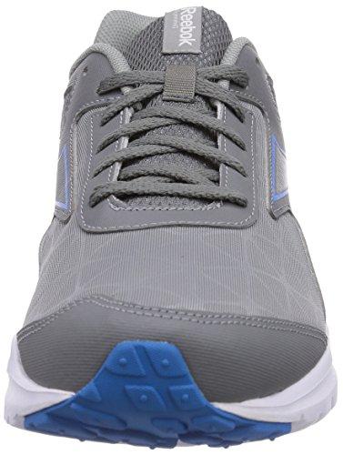 Reebok Dash Rs, Scarpe da Corsa Uomo Grigio (Grau (Flat Grey/Medium Grey/Energy Blue/White))