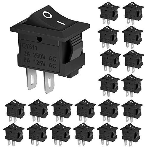 DECARETA Interruptor Basculante-Un pequeño interruptor que aporta infinita comodidad a tu vida    Especificación  Nombre del producto: interruptor basculante Material: plástico y metal Tipo: On / Off (SPST) Voltaje: CA 125-250V Electricidad: 3-6A Can...