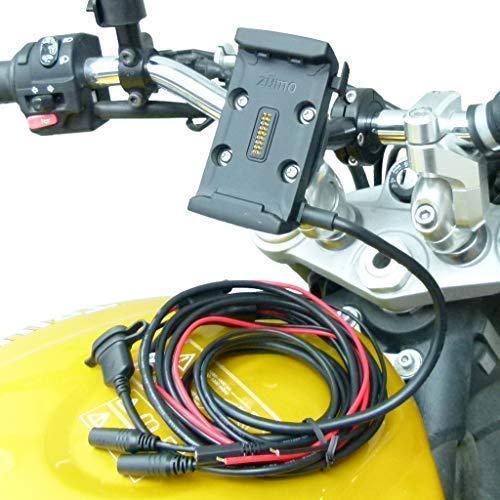 Buybits Cablaggio Cavo Alimentazione 9cm Prolunga Bici Supporto per Moto per Garmin Zumo 590 595
