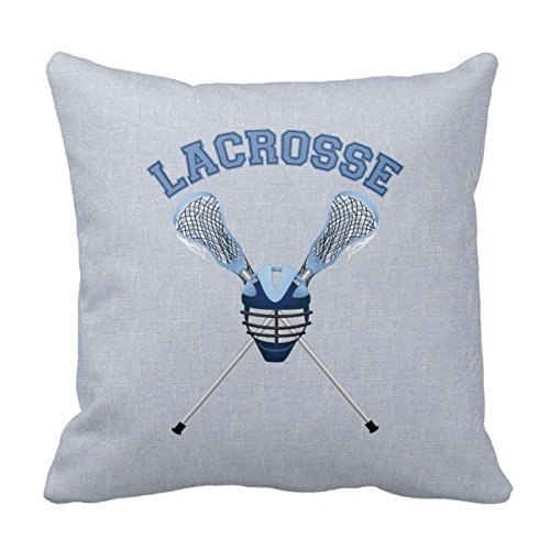 Cotton Pillowcase Simple Cute Side Zipper Lacrosse C313 18x 18 inches by Pillow case Store Fashion Decoration -