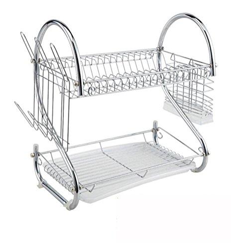 kitchen-storage-racks-2-tier-dish-drainer-stainless-steel-dish-draining-rack