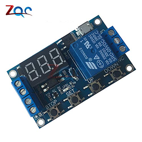 WS16 DC 6-30V UnterStützung Micro USB 5V LED-Display Automatisierung Zyklus Verzögerung Timer-Kontrolle aus dem Schalter Verzögerung ZeitRelais 6V 9V 12V 24V