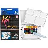 Koi acqua colori tasca campo Sketch Box-24 colori