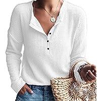 Mode Frauen Plaid Blusen V-Ausschnitt Knopf Langarm Shirts Bluse Pullover Shirt Tops S-2XL
