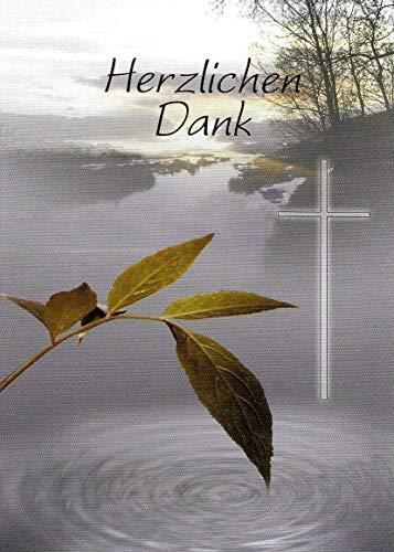 Trauer Danksagungskarten Trauerkarten mit Innentext 10 Klappkarten DIN A6 im Hochformat mit weißen Umschlägen im Set Dankeskarten Dankeschön Karten Kuvert Danke sagen Beileid K255