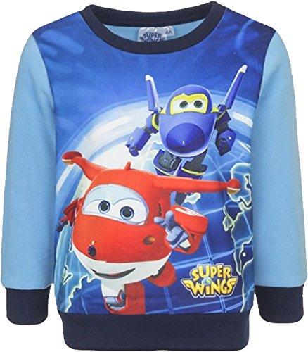 Super Wings Niños Sweatshirt (Rojo , 3 Años)
