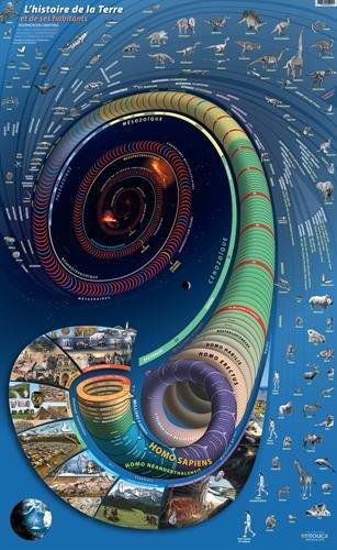 L'histoire de la Terre et de ses habitants : Affiche par Cécil Baboulène