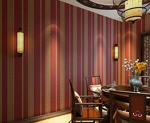 GLF Einfach Und Schlicht 3D Vertikale Streifen Vliestapete Restaurant Studie Schlafzimmer Wohnzimmer TV Kulisse Tapeten 53 * - Diy Halloween-kulisse