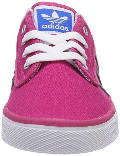Adidas Originals Kiel, Sneakers Basses Mixte Enfant Rouge (bold Pink/core Black/ftwr White)