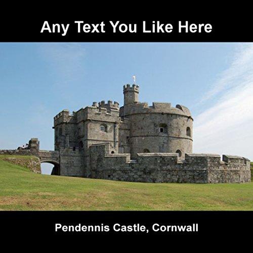 Castello di Inghilterra Pendennis Cornovaglia Targa da parete quadrato in (Castello Pendennis)