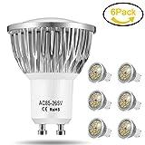 LED Lampen GU10, Jpodream 7W 18 x 5730 SMD LED Leuchtmittel, Ersatz für 60W Halogen Lampen, Warmweiß 3000K, 500lm, AC85-265V, 140°Strahlwinke LED Glühbirnen, 6er Pack
