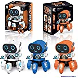 BabbarSher Crafts Bot Robot Octopus Shape Electric Robot Colorful Music Flashing Lights Dance Toy for Kids Boys Girls ( Colors : Assorted )