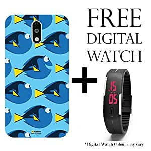 Hamee Disney Pixar Finding Dory Licensed Hard Back Case Cover For Lenovo K5 Note Cover with Free Digital Watch - Combo 1