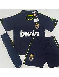 Segunda Equipación Completa Infantil Oficial del Real Madrid (Talla 4)