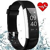 Fitness Tracker AISIRER Cardiofrequenzimetro da Polso Orologio Braccialetto Fitness Activity Tracker cardio Pedometro Impermeabile con Monitoraggio del Sonno Notifiche Chiamate e SMS per iOS e Android