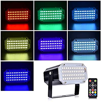 Strobe Lights for Parties Stage Lighting with Remote Sound Activated LED Stage Lights 48 RGB Mini DJ Lights