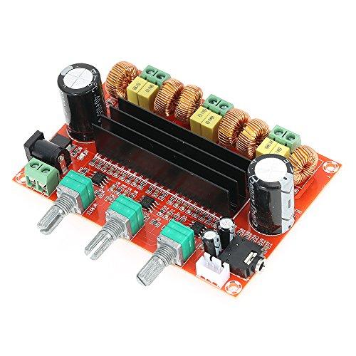x 2 + 100W 2.1 Kanal Digital Subwoofer Audioverstärker-Brett Leistungsverstärker Brett DC12V-24V (Auto Stereo-bluetooth Amp)