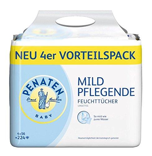 Penaten Baby Mild Pflegende Feuchttücher, 4+1Päckchen, 280 Tücher