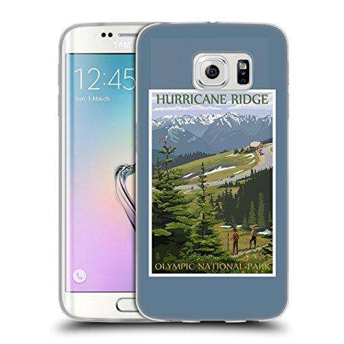 Head Case Designs Offizielle Lantern Press Hurricane Ridge National Park Soft Gel Hülle für Samsung Galaxy S6 Edge (Edge-hurricane)