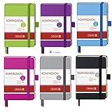 Brunnen Notizbuch A7 Kompagnon Trend kariert 9,5x12,8 farbiger Einband 10-55218 Farbe violett