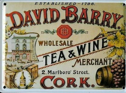 david-barry-tea-wine-mini-della-targa-in-metallo-metallo-cartolina-8-x-11-cm-rimpianto-segno-retro-s