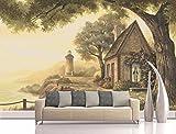 Hojuan 3D Wandbild Wallpaper Gewohnheit Big Tree Landschaft Sofa Hintergrund Wohnkultur Wandtattoo Malerei Wandaufkleber Dekoration 350Cmx260Cm