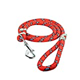 #8: W9 High Quality Nylon Rope Red Leash (Large)