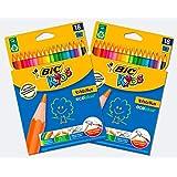 Bic Kids Evolution Ecolutions Matite Colorate, Confezione da 2x18 Matite