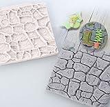 Trockene Wand Formas de Silikon Form Schloss Stein Bark Kuchen Werkzeuge Fondant Kuchen, Formen