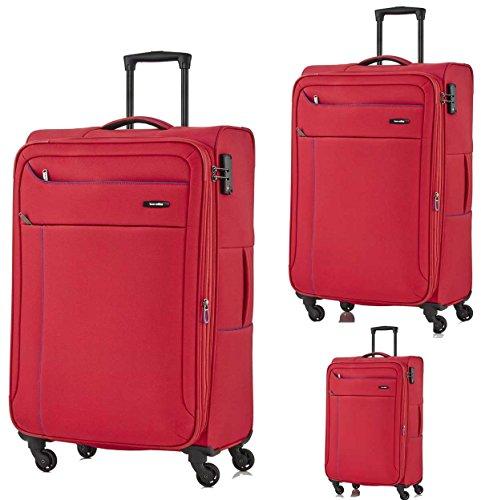 Travelite SOLARIS 4 Rad, Kofferset, 4teilig, L/M/S + BT, Rot/Blau, 88140-10 Set di valigie, 77 cm, 225 liters, Rosso (Rot/blau)