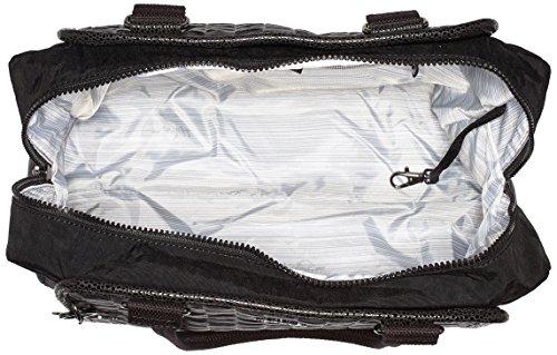 Kipling Damen Faye Fever Henkeltaschen, 36x29.5x14.5 cm Schwarz (G49 Weaving Black)