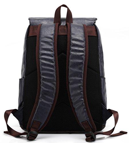 Keshi neuer Stil Schulrucksäcke/Rucksack Damen/Mädchen Vintage Schule Rucksäcke mit Moderner Streifen für Teens Jungen Studenten Braun