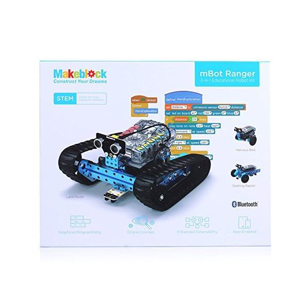 51VR7cjkLfL. SS600  - Makeblock Ranger - 3 en 1 Robótica Transformable STEM Robot Kit Educativo, Aprender Coding con Un Montón de Divertido