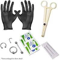 Body Piercing Kit Ear Lip Nose Tongue 18g -16g-14g Piercing Needles 316l Surgical Steel 13pc total By Eg Gifts. by EG GIFTS - Body Kit Prezzo