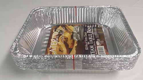 Feuilles de cuisson grandes, jetables, en feuille d'aluminium (Gastronorm)–Lot de 10