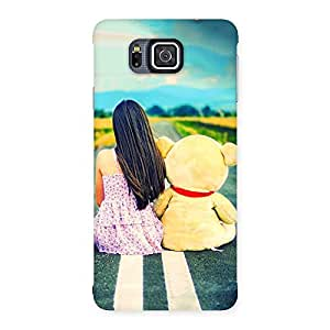 Gorgeous Girl Teddy Multicolor Back Case Cover for Galaxy Alpha