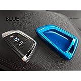 Funda dura protectora de plástico ABS brillante para mando inteligente de BMW serie 2,X1,X5,X6,F15,F22,F45,F46;2015/2016/2017(azul)