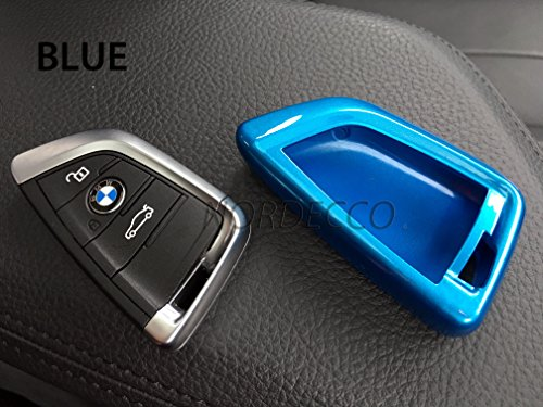 Hochglanz-Schutzhülle aus ABS-Kunststoff für Schlüssel mit 3 oder 4 Tasten, Schlüsselanhänger für BMW 2er-Serie...