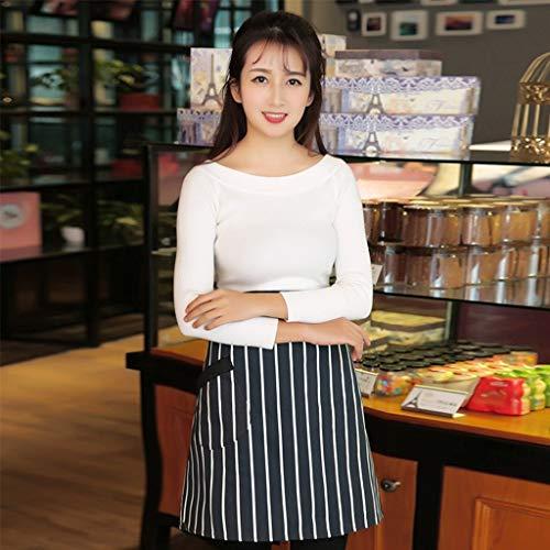 WZF Halber Körper Schals männlich und weiblich schwarz und weiß schwarz gestreift Küche Antifouling Bäckerei CAF EIN Business Dining Outfits