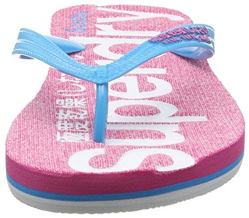 Superdry Scuba Marl, Tongs Femme Multicolore (Fluro Pink Grit/Fluro Blue/Fluro Pink)