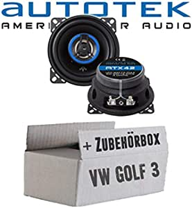 Vw Golf 3 Dashboard Front Speaker Boxes Autotek Atx 42 2 Way 10 Cm Coaxial Speaker 100 Mm Car Installation Accessories Navigation Car Hifi