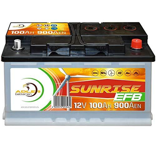 Solarbatterie 12V 100Ah Adler Batterie Wohnmobil Boot Camping ersetzt 80Ah 90Ah Marine-starterbatterie