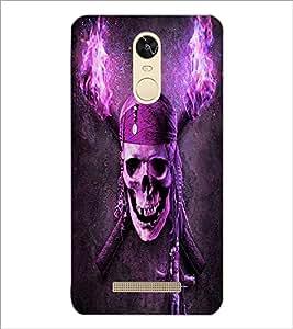 PrintDhaba Pirate's Skull D-6066 Back Case Cover for XIAOMI REDMI NOTE 3 (Multi-Coloured)