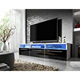 Mueble para TV Lavello con LED blanco / negro