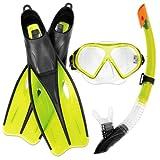 Bestway Dream Diver Schnorchelset - Flossen - Maske - Schnorchel Gelb 40- 42